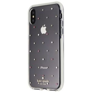 Kate Spade iPhone X XS clear jeweled case